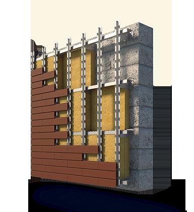 Конструкция вентфасада